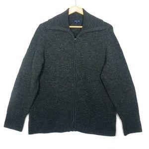 ✨3/$25✨Encore Grey Textured Zip Up Cardigan - 1X
